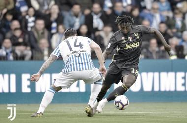 Moise Kean frente al SPAL | Foto : twitter oficial Juventus