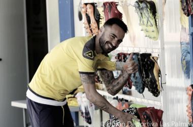 Jerónimo Figueroa 'Momo', contento de volver a entrenar con la plantilla | Fuente de imagen: udlaspalmas.es