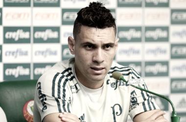 O camisa dez alviverde em coletiva de imprensa (Foto: Divulgação/SE Palmeiras)