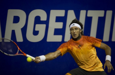 Juan Monaco was in action on Tuesday at the Argentina Open. Photo: Argentina Open