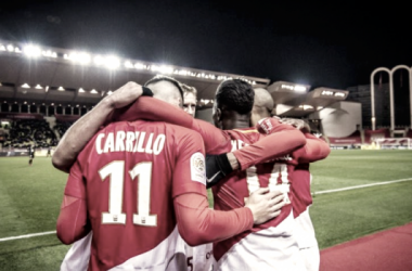 En la imagen, el Mónaco celebra su triunfo frente al Niza / Fuente Liga Francesa