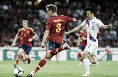 Monreal se quedó sin minutos ante Portugal