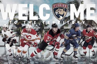Montaje nuevos fichajes Panthers | Twitter: @FlaPanthers