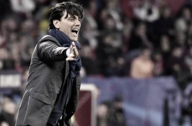 Montella durante el partido frente al Bayern | Foto: Sevilla FC