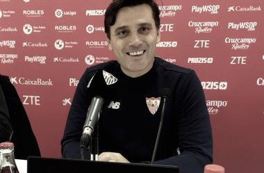 """Montella: """"Hemos jugado un buen partido en la primera parte"""""""