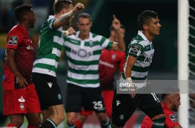 Diante do Marítimo, Montero marcou o seu primeiro golo da temporada. GettyImages