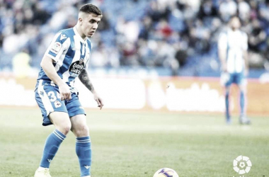 Montiel durante el partido. Fotografía: La Liga