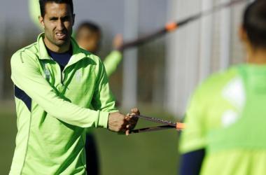 Montoro se retiró a mitad de la sesión. Foto: Pepe Villoslada / Granada CF
