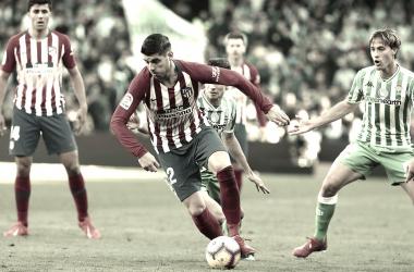 Morata en su debut frente al Betis. // Imagen web Club Atlético de Madrid.