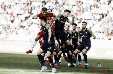 Morcillo contra el Sporting el curso pasado   Fuente: LaLiga