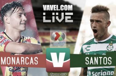 Resultado y goles del Monarcas 3-1 Santos en Liga MX 2018