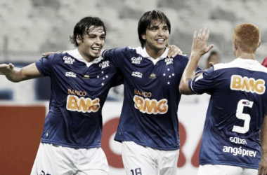 Marcelo Moreno se emociona ao marcar pela primeira vez desde o retorno ao Cruzeiro
