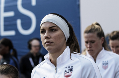 Alex Morgan, who served as Captain against France, gets ready to lead the U.S. in an important game against England | Source: Cindy Lara - VAVEL USA