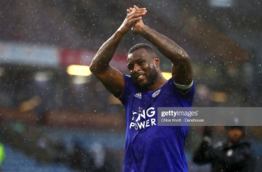 Wes Morgan following the 2-1 win over Burnley | Photo: Getty/ Chloe Knott - Danehouse