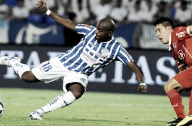 García (18) convirtió el gol en el último enfrentamiento en Mendoza. Foto: Web