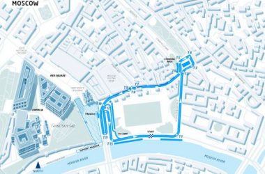 The circuit layout was unveiled Tuesday during a press conference at the Ararat Park Hyatt Hotel. Photo: Formula E