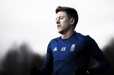 Mossa, durante un entrenamiento | Imagen: Real Oviedo