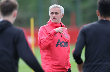 Manchester United in training | Photo via Manchester United (Twitter)
