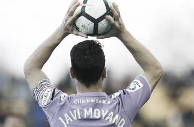 """Javi Moyano: """"Las sensaciones del equipo son buenas""""// FUENTE: Real Valladolid C.F."""