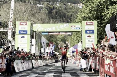 Mark Padun vince a Innsbruck. Fonte: Tour of The Alps/Twitter