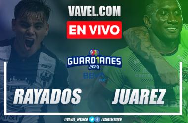Goles y resumen del Rayados 2-1 Juárez en la jornada 7 del Guard1anes 2020