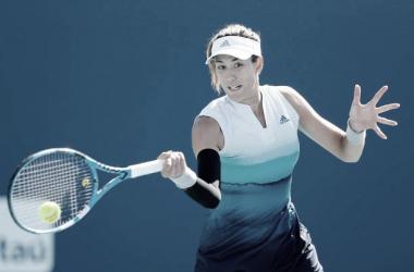 Muguruza en acción durante el pasado WTA Premier Mandatory de Miami. Foot: gettyimages.es