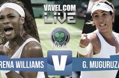 Resultado Muguruza - Serena Williams en la final de Wimbledon Femenina 2015(0-2)