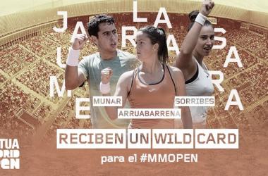 Munar, Sorribes y Arruabarrena, en el cartel promocional del MMO. Foto: madrid-open.com