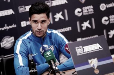 Munir ante los micros.   Foto: Málaga CF