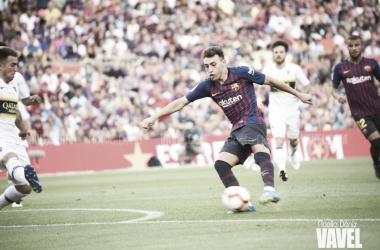 Munir vuelve al Camp Nou vestido de azulgrana