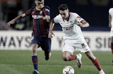 Munir ante el FC Barcelona Foto: Sevilla FC