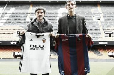 Juan Ramón López Muñiz en busca de su primera victoria en Mestalla con la  Levante UD