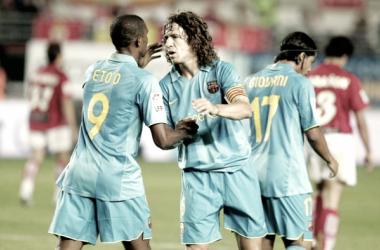 El Real Murcia en busca del primer gol en el Camp Nou