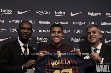 Murillo presentado como nuevo futbolista azulgrana | Foto: Eduardo Ariño, VAVEL.
