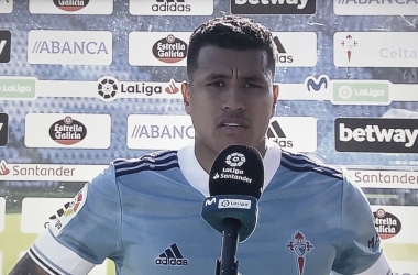 Jeison Murillo en las declaraciones posteriores al empate frente al Real Valladolid / Foto: Movistar LaLiga
