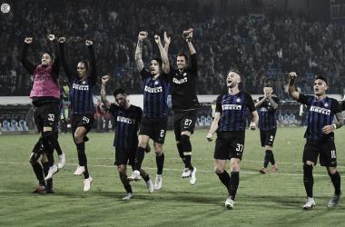 esultanza spal-Inter (fonte foto twitter inter)