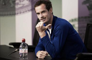 Andy Murray durante la rueda de prensa previa a Wimbledon. Foto: zimbio.com