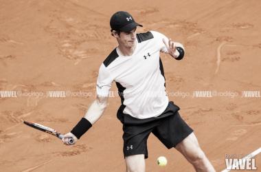 Murray golpea una bola durante el MMO. Foto: Rodrigo Jiménez Torrellas - VAVEL