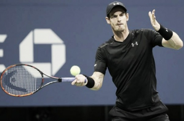 Andy Murray in action at the US Open (Picture from Eurosport)