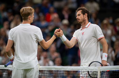 Denis Shapovalov was full of respect for Andy Murray after defeating the Brit on Centre Court (Pool/Getty Images)