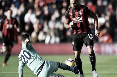 Mustafi durante el partido | Fotografía: Arsenal