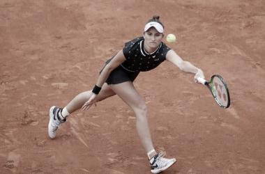 Vondrousova durante la final. Foto: Roland Garros.