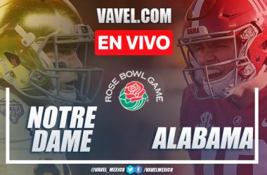 Resumen y anotaciones del Alabama 31-14 Notre Dame en Semifinal NCAA Rose Bowl 2021