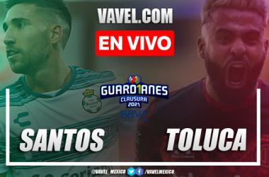 Goles y resumen del Santos Laguna 3-1 Toluca en Liga MX 2021