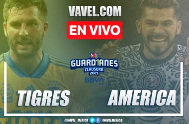 Goles y resumen del Tigres 1-3 América en Liga MX 2021