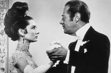 Audrey Hepburn y Rex Harrison en un fotograma de la cinta (Foto: patxio.wordpress)
