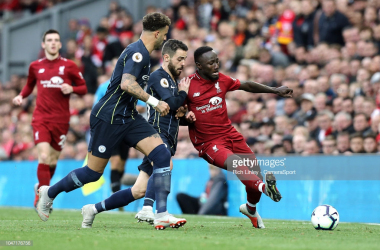 Keita in action against Manchester City | Photo: Rich Linley - CameraSport.