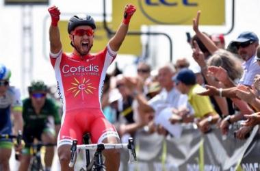 Nacer Bouhanni a remporté la 4e étape de Paris-Nice (Crédit : @matchActus)