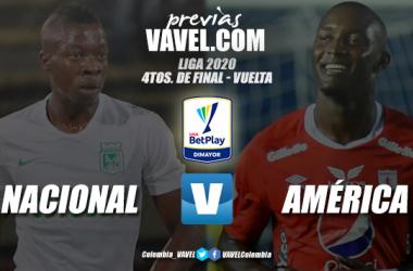 Previa Atlético Nacional vs. América de Cali: prueba de fuego para avanzar a las semifinales de la liga