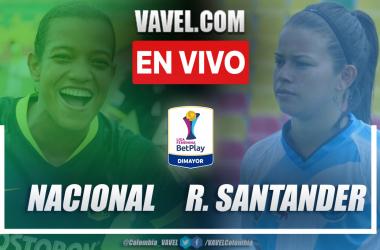 Resumen y goles: Nacional 2-1 Real Santander en la fecha 1 del grupo B por Liga Femenina 2021